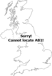 map showing location of AB1