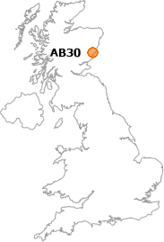 map showing location of AB30