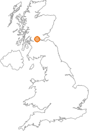 map showing location of Aberfoyle, Stirling