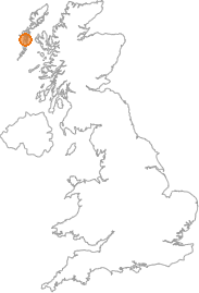 map showing location of Aird, Western Isles