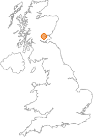 map showing location of Airntully, Perth and Kinross