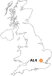 map showing location of AL4