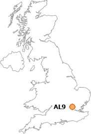 map showing location of AL9
