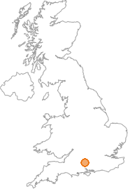 map showing location of Andover, Hampshire