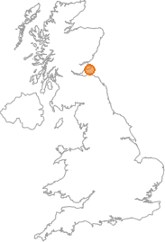 map showing location of Anstruther, Fife