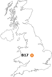 map showing location of B17