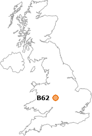 map showing location of B62