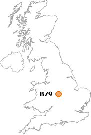 map showing location of B79
