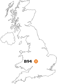 map showing location of B94