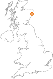 map showing location of Balmedie, Aberdeenshire