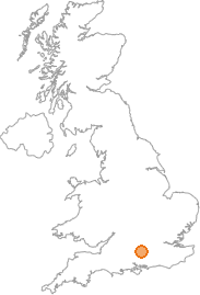 map showing location of Basingstoke, Hampshire