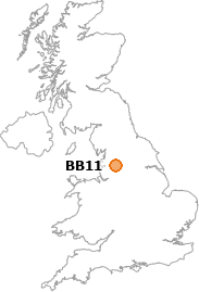 map showing location of BB11