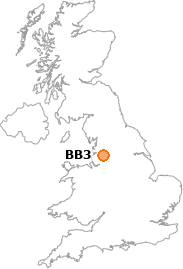 map showing location of BB3