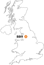 map showing location of BB9