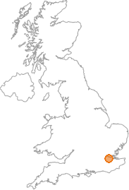 map showing location of Bean, Kent