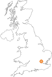 map showing location of Bell Bar, Hertfordshire