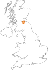 map showing location of Blackhall, City of Edinburgh