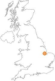 map showing location of Boston, Lincolnshire