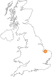 map showing location of Brancaster, Norfolk