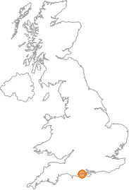 map showing location of Bransgore, Hampshire