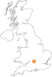 map showing location of Brize Norton, Oxfordshire