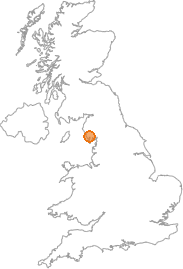 map showing location of Broughton in Furness, Cumbria