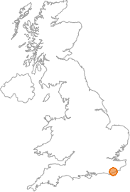 map showing location of Catsfield, East Sussex