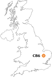 map showing location of CB6