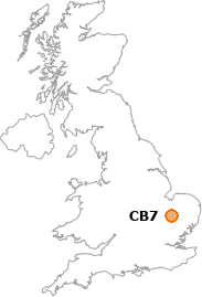 map showing location of CB7