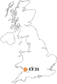map showing location of CF31