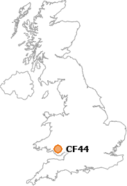 map showing location of CF44