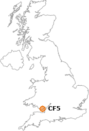 map showing location of CF5