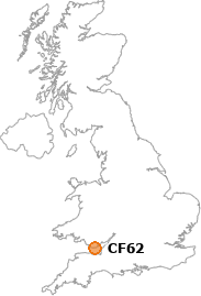map showing location of CF62
