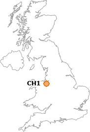map showing location of CH1