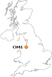 map showing location of CH41