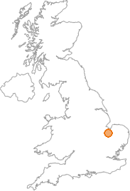 map showing location of Christchurch, Cambridgeshire