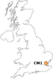 map showing location of CM1