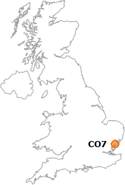 map showing location of CO7