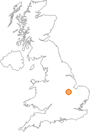 map showing location of Collyweston, Northamptonshire
