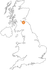 map showing location of Craigmillar, City of Edinburgh