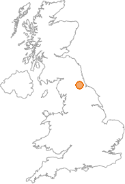 map showing location of Crook, County Durham