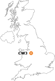 map showing location of CW3