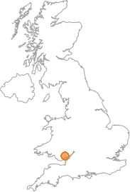 map showing location of Cwmbran, Torfaen