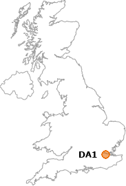 map showing location of DA1