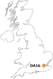 map showing location of DA16