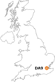 map showing location of DA9