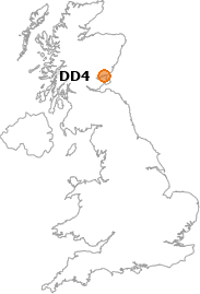 map showing location of DD4