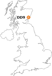 map showing location of DD9