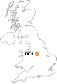 map showing location of DE4