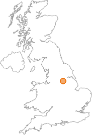 map showing location of Denaby Main, South Yorkshire